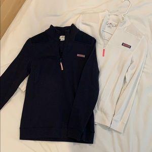 Vinyard Vines ¼ zip sweatshirt - Navy or white